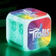 Trolls Toys Movie Cartoon #01 Led Alarm Clock Figures LED Alarm Clock - $25.00