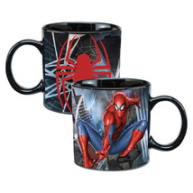 The Amazing Spider-Man Swinging 20 oz Heat Reactive Ceramic Coffee Mug U... - $15.47