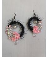 Rose flower bridal earrings Swarovski occasional jewelry Gift for her Fl... - $38.56
