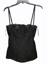 Dolce & Gabbana Women Black Satin Bustier Top Size 42 Made in Italy image 1