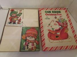 VTG HAWTHORNE SOMMERFIELD OUR KIDDIE CHRISTMAS BOX 33 CARDS ORIGINAL #S590 - $10.00
