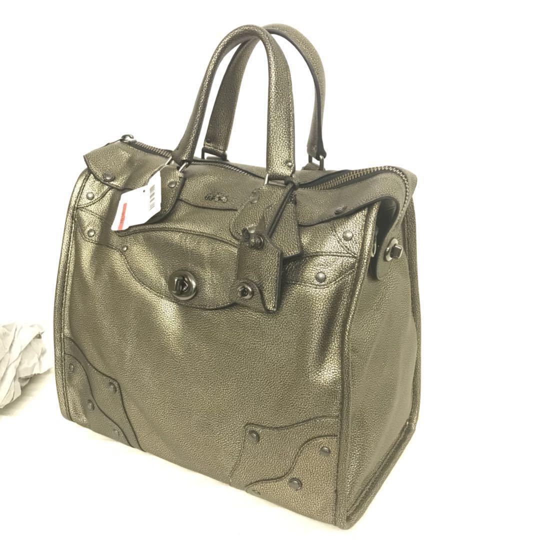 2e230e2c8414 NWT COACH 33740 Metallic Leather Rhyder 33 and 50 similar items