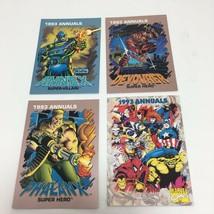 Trading Card 1993 Annuals Marvel Comics 4 Cards Annex Devourer Phalanx Checklist - $8.15