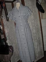 Womens S KAREN SCOTT Blue plaid SHIRT Dress BARELY WORN! COOL & COMFY! - £9.88 GBP