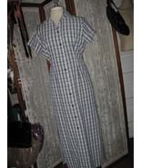 Womens S KAREN SCOTT Blue plaid SHIRT Dress BARELY WORN! COOL & COMFY! - $13.03