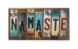 Namaste License Plate Strip Novelty Wood Sign WS-066 - $47.65