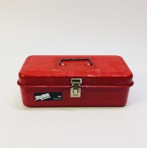 Vintage Disston My Buddy Tool Box Metal Red Model 1100 Made in USA - 11.... - $24.14