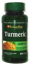 400mg Turmeric 100 Capsules Natural Herbal Supplement Antioxidants Brain... - $6.90
