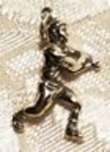 3D Male Baseball Player Batter Nicely Detailed Sterling Silver Charm