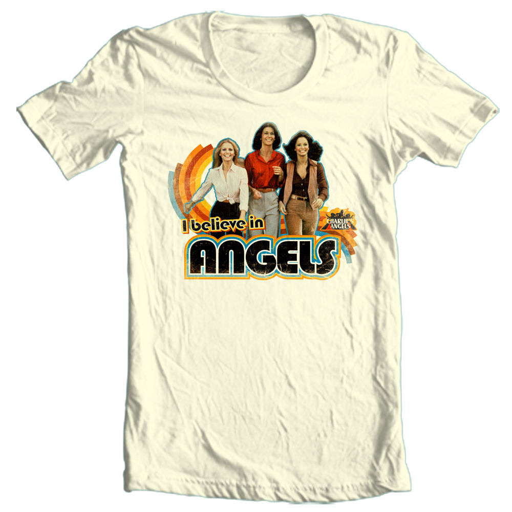 Charlies angels graphic tee farah faucet 80 s i love my angels tshirt