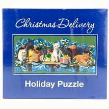 Current 1000 Pieces Jigsaw Puzzle Christmas Delivery Holiday Cats in Mai... - $29.44
