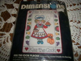 Dimensions Kit 6106~Hug The Cook Stamped Cross Stitch  - $10.00