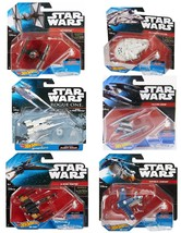 Star Wars (6 Pack) Hot Wheels Spaceship Models Toys Set Figures & Stands... - $27.99
