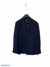 Kenneth Cole Awearness Men's Sport Coat Size 44R Black & Blue Fully Lined - $39.59