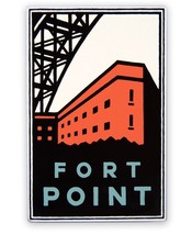 "Fort Point Magnet - Golden Gate National Park San Francisco 3-3/8"" tall,... - $8.66"