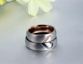 2PCS Heart Shape Couple Ring Set Matching Promise Engagement wedding Rin... - $15.99