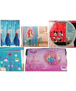 Disney Fabric Shower Curtain Frozen Ariel Doc McStuffins Princess Minnie... - $59.95