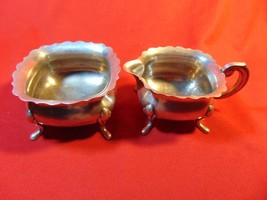 Silver Plated, Open Sugar & Creamer,  Primans, of Sweden. - $13.99