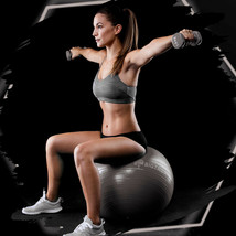 Exercise/Yoga Ball Extra Thick Yoga Ball Chair, Anti-Burst - Grey 65cm - $22.99