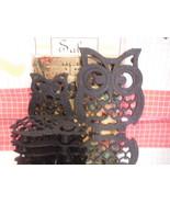 Giftco Owl 5 Trivet Vintage Cast Iron Set - $8.55