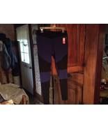 NEW Women's M 8 10 DANSKIN Blk Blue Leggings work out Pants  - $14.89