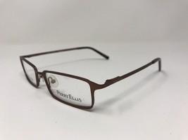 NEW PERRY ELLIS Eyeglasses PE247-3 51-17-135 Matte Glossy Brown V84 - $38.14