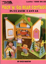 Pack 'N' Go Bear Cottage in Plastic Canvas by Dick Martin Leaflet 1689 Doll Hous - $12.95