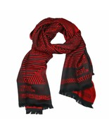 Versace Collection Black & Red Mens Scarf IST7R02IT02853I4081 - $125.00