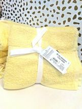 Room Essentials Hand Towel Set 2pk LEMON ICE 100% Cotton,15'' X 25'' NEW-W-TAGS image 2