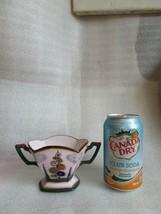 Art Deco HAND PAINTED NORITAKE Open Sugar Bowl Whimsical HOLLY HOCKS c 1... - $29.65