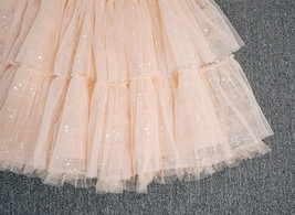 Blush Layered Tulle Skirt Outfit Midi Tiered Tulle Skirt Plus Size Holiday Skirt image 6