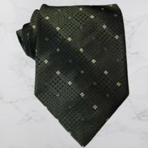 """BRUNO PIATTELLI Mens Tie Green Geometric 100% Pure Silk 57"""" L X 4"""" W USA... - $18.99"""