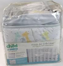 Child Of Mine Made By Carter's Fresh Air Crib Liner Giraffes.  Q5 - $39.55