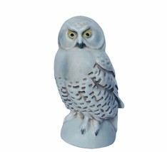 Owl figurine vtg sculpture Goebel Hummel snow white winter Western Germa... - $39.55