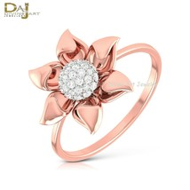 Classic Flower Design Engagement Ring For Her Dainty Promise Ring Her 92... - $84.99