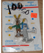 * Rocky and Bullwinkle 1986 Jesco Bendies MOC - $15.00