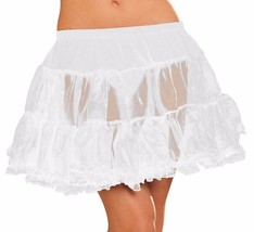 Elegant Moments Sheer Tulle Petticoat - WHITE - $5.58