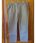 Jennifer Lopez Womens Gray Stretch Jeans 24 Gold Metallic Sparkle Straig... - $24.99