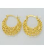 2.9CM Africa Earrings for Women Gold Color Stud Earrings - $12.99