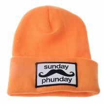 Team Phun Sunday Phunday Neon Orange Pink Yellow Green Skullie Hat Beanie Hat NW image 12
