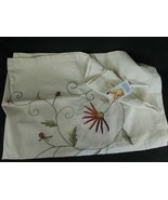 """Embroidered Tablecloth Floral 52""""x72"""" Taro Home Handiworks  - $29.69"""
