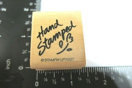 Hand Stamped Rubber Stamp Stampin Up 1997 Stamping Hobby Handmade Flower - $2.98