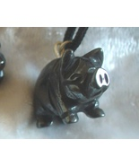 Hematite Pig Gemstone Fetish Pendant - $5.00