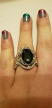 Paparazzi Ring (one size fits most) (new) ATTENTION STEALING BLACK RING - $7.69