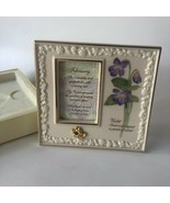 Lenox Birthstone Porcelain Picture Frame February Violet Amethyst Stand ... - $21.00