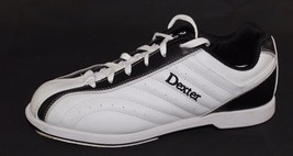 Dexter Groove bowling women's shoes white black slide rite sole size 9 M - $20.71