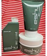 Eshu Skin Assist Men's 3pc Set SHAVE CREAM, SHAVE GEL & FACE SCRUB Full ... - $18.80