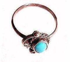 Lovely Sterling Silver Size 8 with Blue Ladies Ring - $15.95
