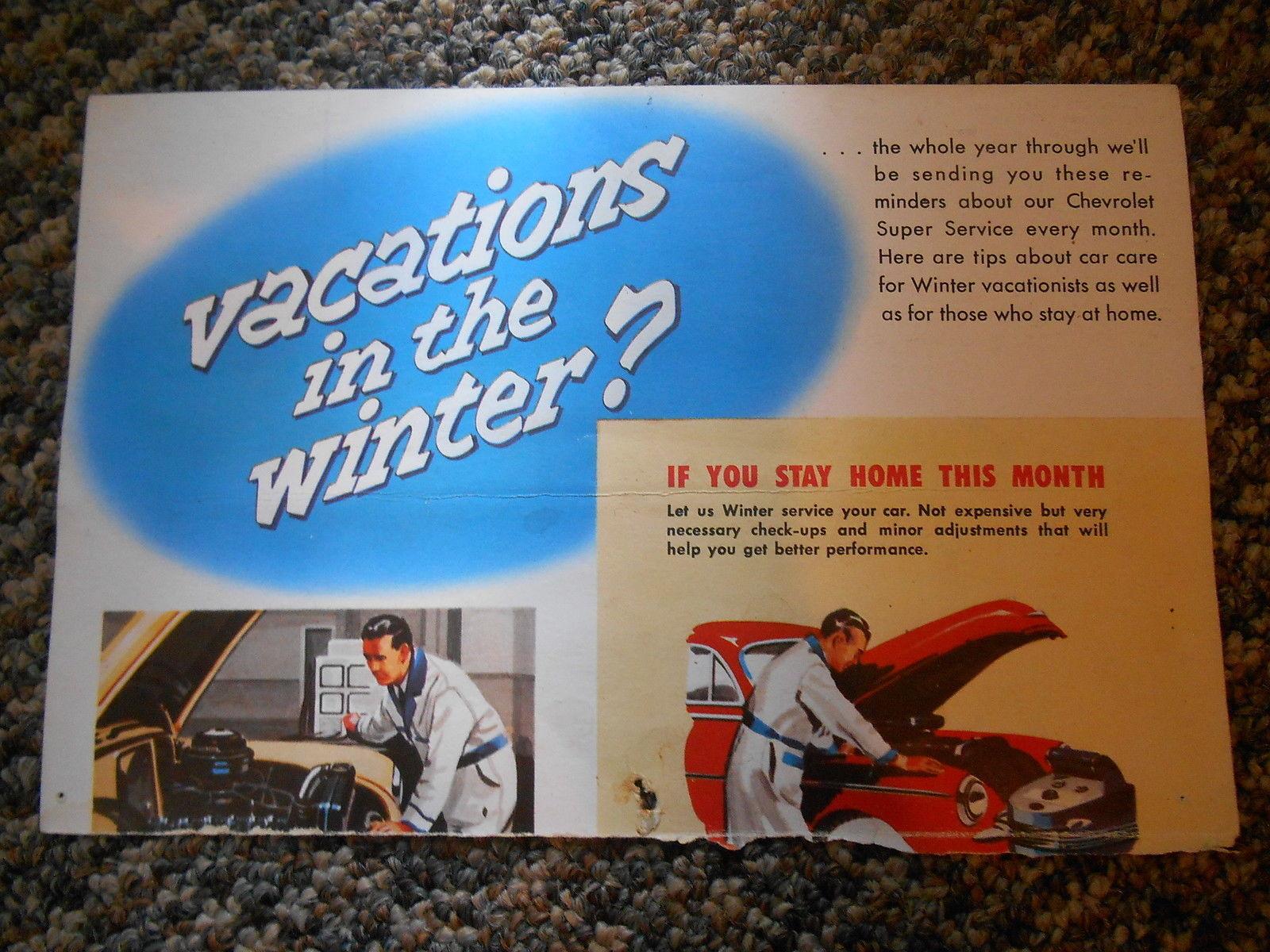 Vintage Calendar Picture Print German Shepherds & Chevrolet Service Advertising