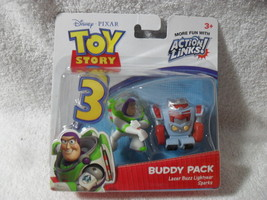 TOY STORY 3 BUDDY PACKS 2 FIGURES ACTION LINKS LASER BUZZ LIGHTYEAR AND ... - $22.99